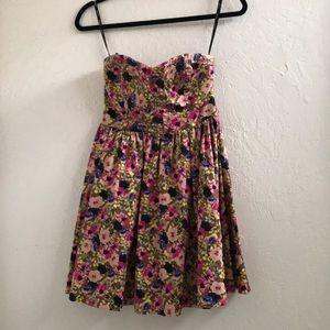 XOXO strapless floral dress